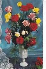 F1 Floral Series Postcard used VGC