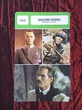 GIULIANO GEMMA - MOVIE STAR - FILM TRADE CARD - FRENCH