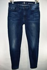 Seven 7 For All Mankind Gwenevere Womens Blue Jeans Skinny Size 31 Meas 29x31