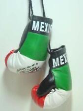 MEXICO MEXICAN FLAG MINI BOXING GLOVES ORNAMENT TREE CAR MIRROR DECORATION