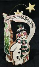 Blue Sky Claywork The Gingerbread Kingdom Tealight t-lite Christmas Candleholder