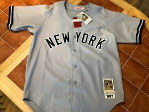 Reggie Jackson Mitchell & Ness 1977  #44 New York Yankees Jersey Size 48 NWT
