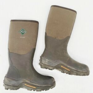 Muck Unisex Wetland Field Boots Green Color Block Mid Calf Pull On M 9 W 10