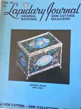 Lapidary Journal Magazine Antique Opal Box November 1971 091117nonrh2
