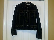 SPIEGEL STUNNING  Black Blazer Jacket Size 10 2007 Memorial Day Blowout Patch