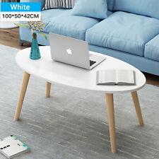 Wood Coffee Oval Living Room Tea Table End Side Tea Desk Bedside Table Furniture