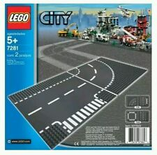 LEGO City 7281 T-Junction and Curve Road Plates Brand New and sealed