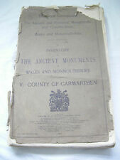 Inventory The Ancient Monuments in Wales & Monmouthshire V.Carmarthen 1917 -RARE
