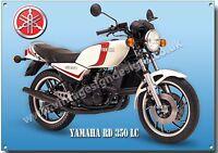 YAMAHA RD 350 LC MOTORCYCLE METAL SIGN.VINTAGE 2 STROKE JAPANESE MOTORCYCLES.