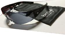 Bolle Rush Plus Safety Glasses Black/Gray Temples Smoke Anti-Fog Lens 40208