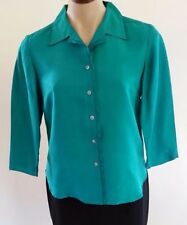 Career Button Down Shirt Dry-clean Only Solid Tops & Blouses for Women