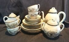 *STUNNING Traditional HAND PAINTED ORIENTAL Chinese Japanese TEA SET Cups*