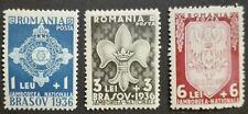ROMANIA-RUMUNIA STAMPS MLH - Scouting Camp, Brashov, 1936, *