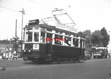 PHOTO  NETHERLANDS TRAMS 1959 LEIDEN NZH A TRAM NO 325 ON LOCAL SERVICE
