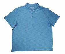 Haggar Clothing Men's Size XL Short Sleeve Blue Polo Shirt