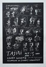 Court Gallery Copenhagen # TAJIRI #exhibition poster , 1966, mint-