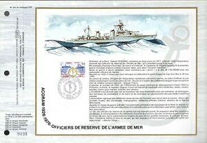 1874++FEUILLET CEF   1erJOUR 1976   OFFICIERS DE RESERVE DE L' ARMEE DE MER