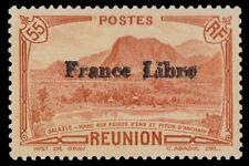 "REUNION 197 - Anchain Peak Overprinted ""France Libre"" (pa81853)"