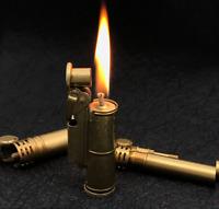 Brass Handmade Refillable Cigarette Lighter Vintage Collectible Kerosene Lighte