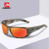 DUBERY 10 Colors Men Sport Polarized Sunglasses Outdoor Driving Helm Glasses New