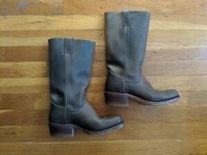 Frye Women's Cavalry Boots Brown Rugged Leather 6 M USA