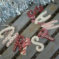 Christmas Wooden Letter Garland Vintage Chic Style Bunting Hanging Decorations
