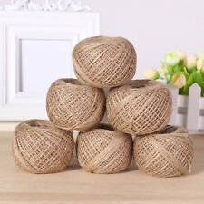 Hemp Craft Twine String 100m Natural Thick Arts Rope Linen Cord Jute Twisted