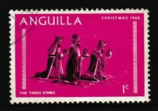 1c, ANGUILLA 'The Three Kings' Christmas Painting Stamp, issued 1968 - Used/VF