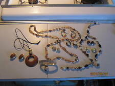 Vintage Costume Jewelry Collection Bracelet Ear Rings and more