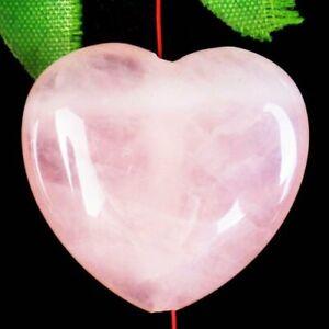 30x28x10mm Natural Rose Quartz Heart Pendant Bead D68467