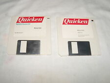 """Quicken Versions 3.0 and Version 1.5 for Macintosh on 3.5"""" floppy disks"""