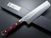 Japanese Sakai Takayuki Hammered Damascus VG10 Nakiri Kitchen Knife 160mm Japan