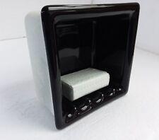 Black Recessed Ceramic Soap Niche Dish Tray Tumbler Vintage Mid Century Modern