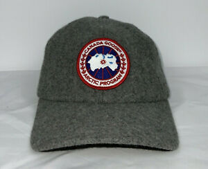 Canada Goose Merino Ball Cap Hat Ear Flap Gray One Size Wool Winter
