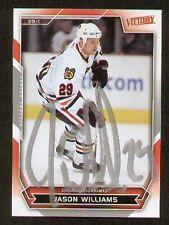 Jason Williams signed autograph Upper Deck Hockey Card
