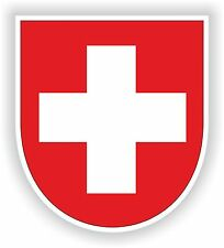 Coat of Arms Sticker of Switzerland Bumper Decal Helmet Car Truck Bike Swiss