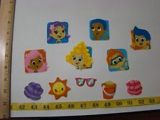 11 pc Bubble Guppies Fabric Applique Iron On Ons Set 1