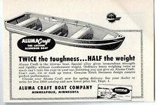 1950 Vintage Ad Aluma Craft Boats Alumacraft All Aluminum Hulls Minneapolis,MN