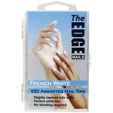 The Edge 100 assorted FRENCH  WHITE Nail Tip. (Blended) OFFICIAL STOCKISTS