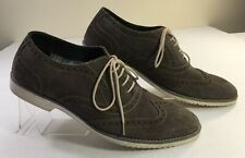 Franco Fortini Kipp Suede Oxford Wingtip Lace-Up Shoes  sz 13 Free Shipping