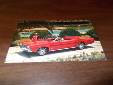 1968 Ford Galaxie 500 Convertible Advertising Postcard
