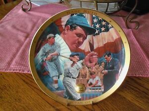 The Legendary Babe Ruth Plate The Sultan of Swat  Limited Ed Royal Doulton