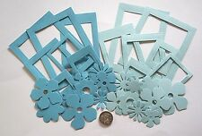 NO 453 Scrapbooking - 14 Photo Picture Frames / 20 Paper Flowers - Scrapbook