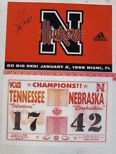 copy Signed SCOTT FROST #7 CORNHUSKERS 1997 Championship ORANGE BOWL Game Poster