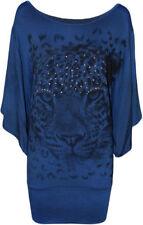 T-shirt, maglie e camicie da donna, taglia comoda blu basici