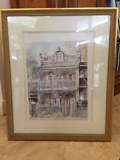 LIMITED EDITION 51/94 SIGNED PRINT LYNNE DEANS RICHMOND HILL TERRACE 5Ox60cm
