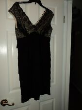 Scarlet Nite Black and Lace Dress Size 8
