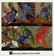1995 Marvel Metal Trading Cards Gold Blaster Card Subset Full Set (18)