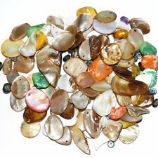 MP1883 Assorted Size, Color & Shape 4mm - 25mm Mother of Pearl Shell Beads 4oz