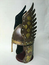 Antique Medieval Reenactment Viking Wings Armour Helmet Viking Chain Mail Helmet